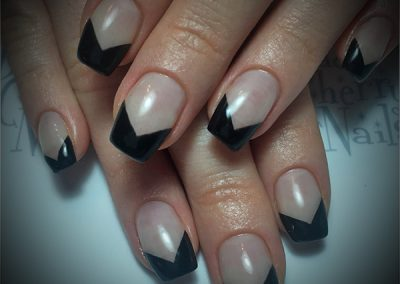 Black-Cherry-Nails-chevron-french-coquitlam