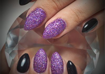Black-Cherry-Nails-purple-glitter-coquitlam