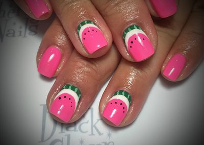 Black-Cherry-Nails-watermelon-pink-nails-coquitlam